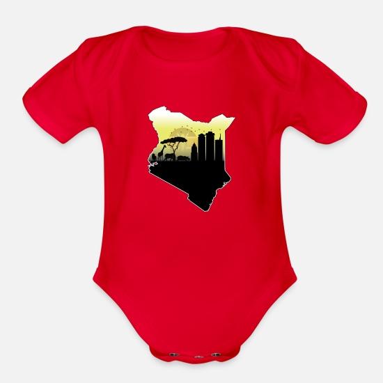 Kenyan flag baby bodysuit RLW1675
