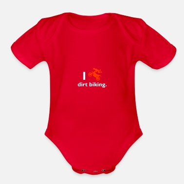 Chain I love dirt biking - Organic Short Sleeve Baby Bodysuit