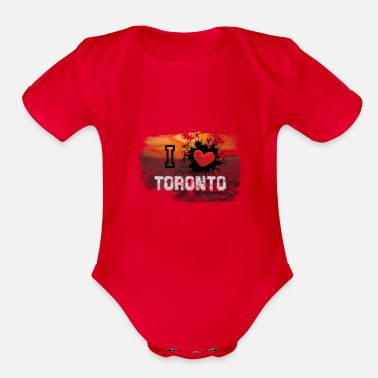 City I love Toronto - Organic Short Sleeve Baby Bodysuit