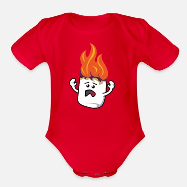 Poor Poor Mallow - Organic Short Sleeve Baby Bodysuit