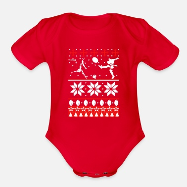 Rugby Rugby Ugly Christmas Sweater - Organic Short-Sleeved Baby Bodysuit