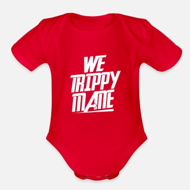 Trippy We Trippy Mane - Organic Short-Sleeved Baby Bodysuit