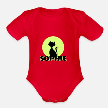 Sophie Sophie first name - Organic Short-Sleeved Baby Bodysuit