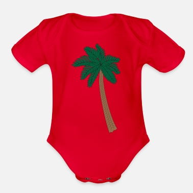 Palm Trees Palm Tree - Organic Short Sleeve Baby Bodysuit
