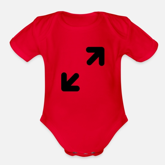 Cursor Baby Clothing - cursor 1 - Organic Short-Sleeved Baby Bodysuit red