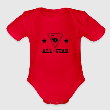 Billiards All Star - Organic Short Sleeve Baby Bodysuit