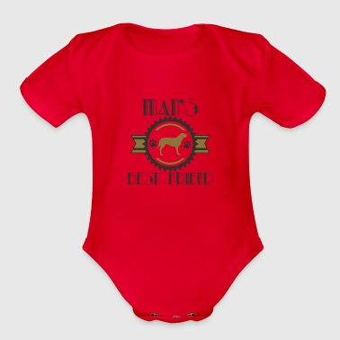 Best friend - Organic Short Sleeve Baby Bodysuit