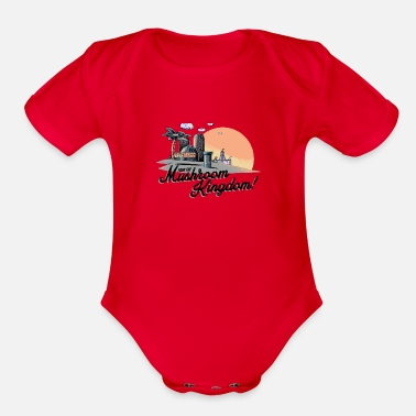 Kingdom Mushroom Kingdom - Organic Short-Sleeved Baby Bodysuit