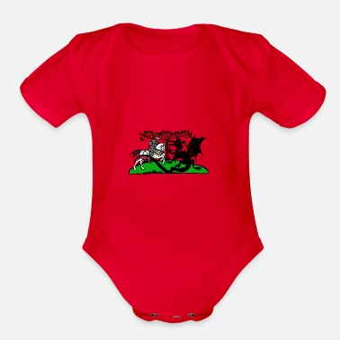 Lance Dragon - Knight with lance. - Organic Short-Sleeved Baby Bodysuit