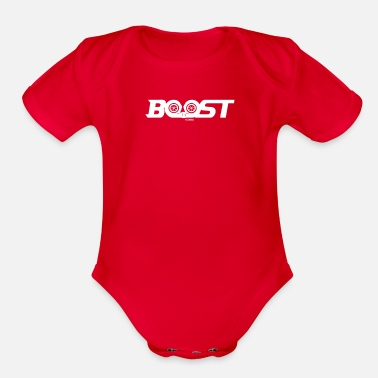 Boost Boost - Organic Short-Sleeved Baby Bodysuit
