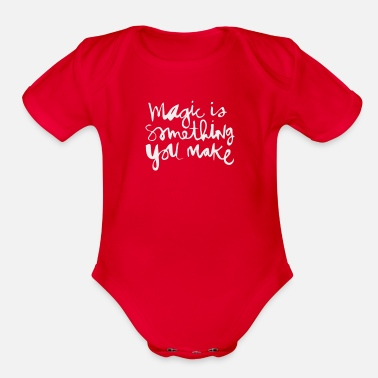 Something Magic Is Something - Organic Short-Sleeved Baby Bodysuit