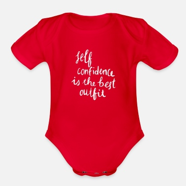 Self Confident - Organic Short-Sleeved Baby Bodysuit