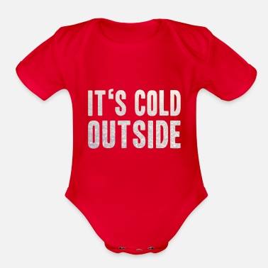 Cold cold - Organic Short Sleeve Baby Bodysuit