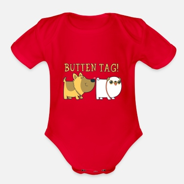 Tag Butten Tag - Organic Short-Sleeved Baby Bodysuit