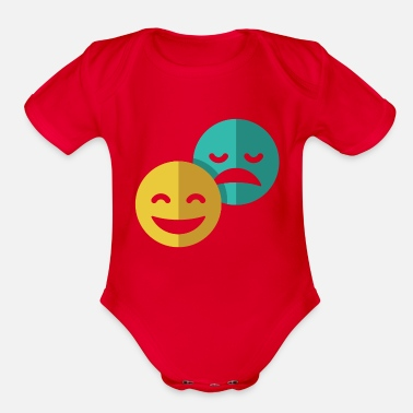 Comedy Comedy and Tragedy - Organic Short-Sleeved Baby Bodysuit