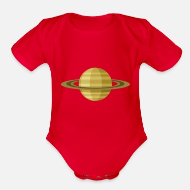 Planet Saturn - Organic Short-Sleeved Baby Bodysuit