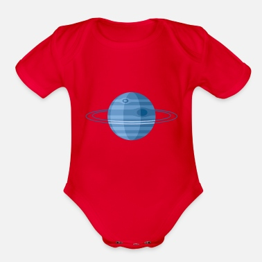 Neptune Planet Neptune - Organic Short-Sleeved Baby Bodysuit