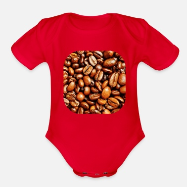 Coffee Beans coffee beans - Organic Short-Sleeved Baby Bodysuit