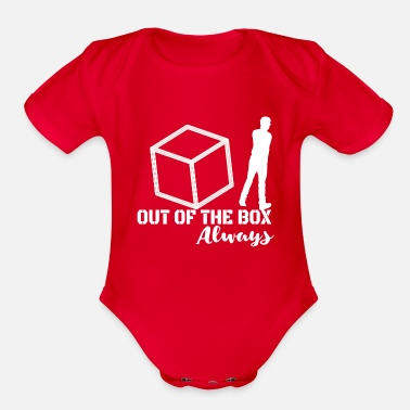 Corporate Life Out of the Box - Always! - Organic Short-Sleeved Baby Bodysuit