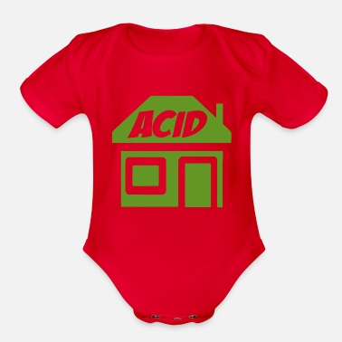 Acid-house ACID HOUSE - Organic Short Sleeve Baby Bodysuit