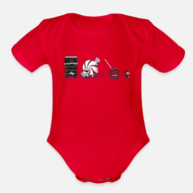 Candy Candy - Organic Short Sleeve Baby Bodysuit