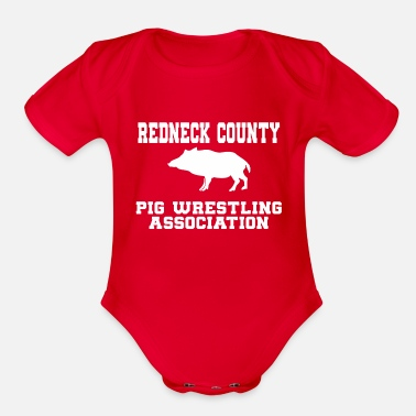 Red Neck red neck - Organic Short-Sleeved Baby Bodysuit