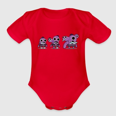 Funny Gym Zzzzombies - Organic Short Sleeve Baby Bodysuit