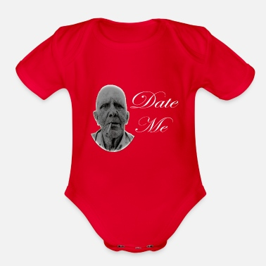 Date date me dating cool love - Organic Short Sleeve Baby Bodysuit