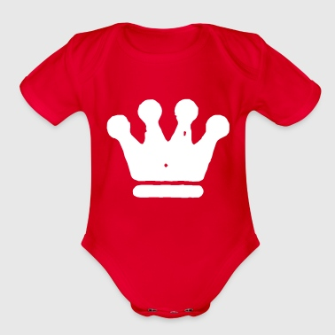 Rustic Grungy Crown - Organic Short Sleeve Baby Bodysuit