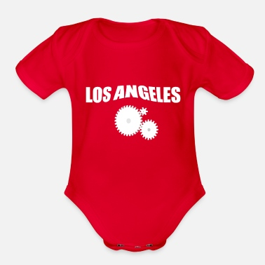 Los Angeles LOS ANGELES - Organic Short-Sleeved Baby Bodysuit