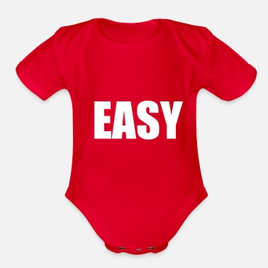 Easy EASY - Organic Short-Sleeved Baby Bodysuit