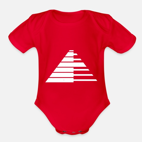 Space Baby Clothing - Keyboard keyboard piano piano wing keys - Organic Short-Sleeved Baby Bodysuit red