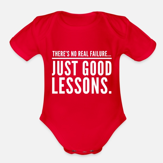 Hustle Baby Clothing - Failures are just good lessons - Organic Short-Sleeved Baby Bodysuit red