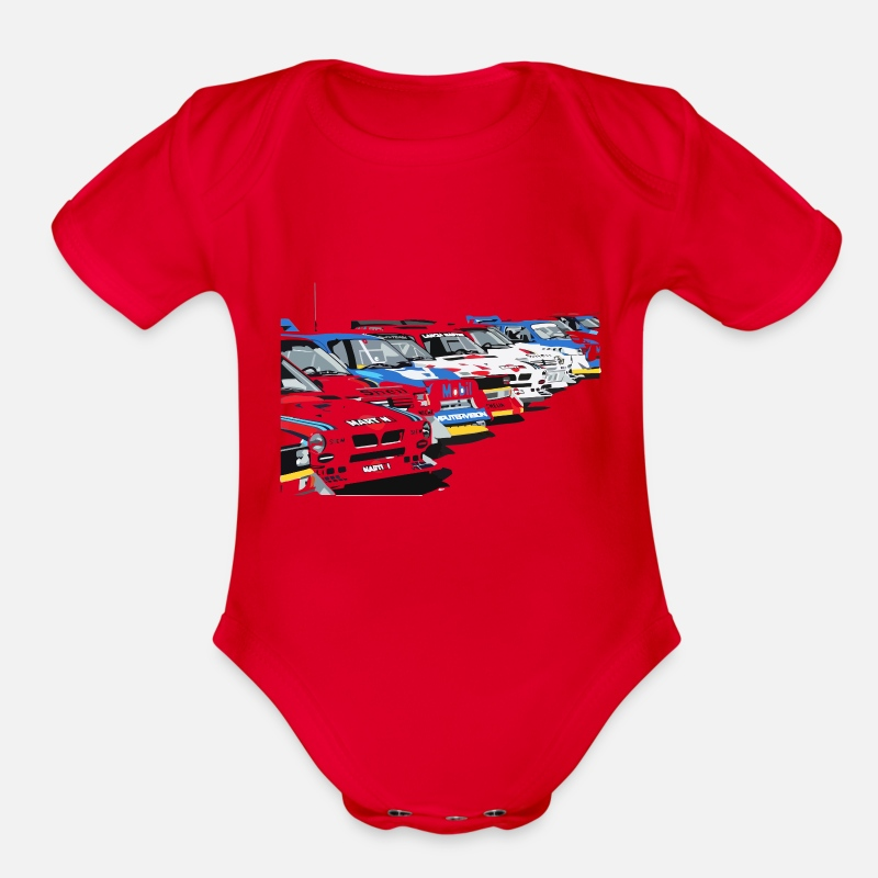 Group Baby Clothing - PistonHeads Group B - Organic Short-Sleeved Baby Bodysuit red