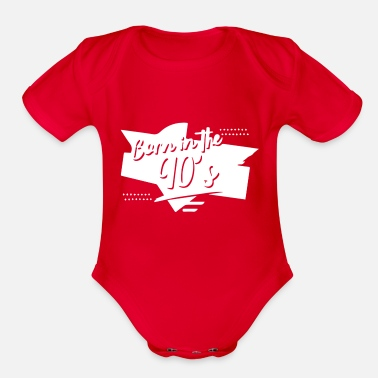 Nineties Born In The Nineties - Organic Short-Sleeved Baby Bodysuit