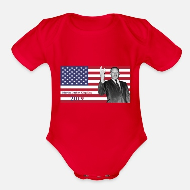 King Martin Luther King Jr. Day 2019 - Organic Short Sleeve Baby Bodysuit