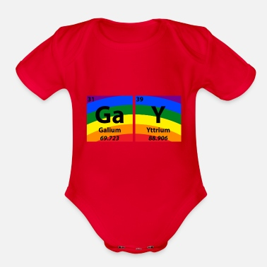 Parade Gay Periodic Table Of Elements Gift - Organic Short Sleeve Baby Bodysuit