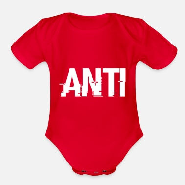 ANTI LOGO - Organic Short-Sleeved Baby Bodysuit
