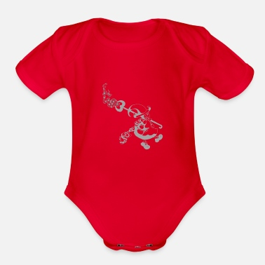 Conjurer Dream Witch- Silver - Organic Short-Sleeved Baby Bodysuit