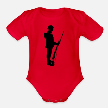 A SOLDIER WW1 - Organic Short-Sleeved Baby Bodysuit