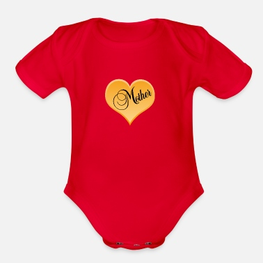 Mothers Day mother / Mothers Day - Organic Short Sleeve Baby Bodysuit