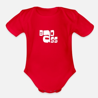 Bad Ass Bad Ass - Organic Short Sleeve Baby Bodysuit
