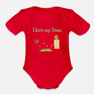Bee Deaths Save the Bees Beekeeper Bee Death Protect Gift - Organic Short-Sleeved Baby Bodysuit
