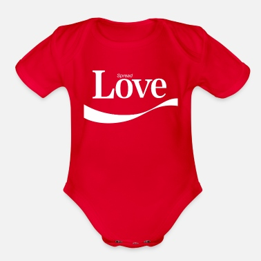 Spread Love - Organic Short-Sleeved Baby Bodysuit