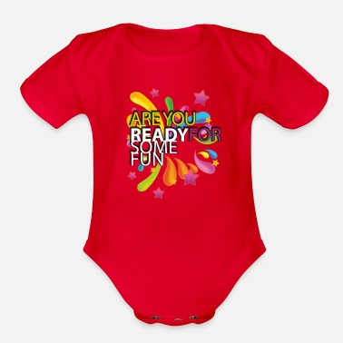 Fun FUN! - Organic Short-Sleeved Baby Bodysuit