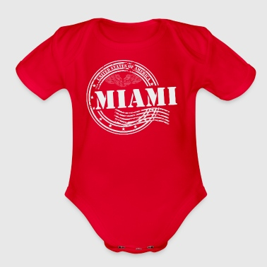 Stamp Miami - Organic Short Sleeve Baby Bodysuit