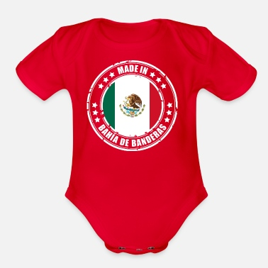 Bandera MADE IN BAHÍA DE BANDERAS - Organic Short Sleeve Baby Bodysuit