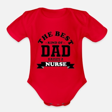 Personalized Fathers day gift nurse - Organic Short-Sleeved Baby Bodysuit