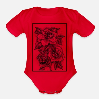 Stage FLOWERING STAGES - Organic Short Sleeve Baby Bodysuit
