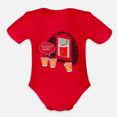Bloody Bloody Mary - Organic Short-Sleeved Baby Bodysuit